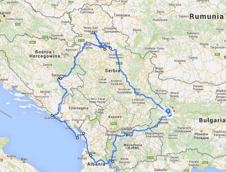 Mapa naszej wyprawy