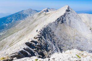 Konczeto - pionowa grań w górach Piryn